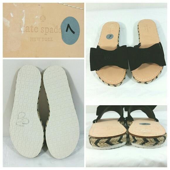 e8212a0f0c05 Kate Spade Idalah Black Espadrille Slide Sandals